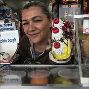 Banana Float is one of Vanina's boardwalk specialty.<br /> <br /> Vanina created these and other specialties can be found at &quot;Vanina's Ice Cream&quot; located at 1539 Boardwalk &amp; Kentucky Avenue in Atlantic City, NJ.