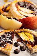 Mini peach tarte tatins