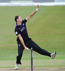 James Fuller of Gloucestershire - Photo mandatory by-line: Dougie Allward/JMP - Mobile: 07966 386802 - 12/07/2015 - SPORT - Cricket - Cheltenham - Cheltenham College - Natwest Blast T20
