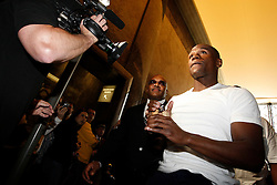 May 19, 2009; New York, NY, USA;  Floyd Mayweather Jr. arrives at the press conference announcing his upcoming fight against Juan Manuel Marquez.  The two will meet on July 18, 2009 at the MGM Grand Garden Arena in Las Vegas, NV.