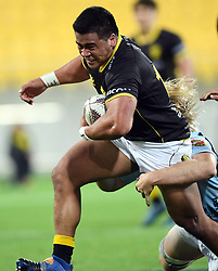 Wellington's Asafo Aumua against Northland in the Mitre 10 Rugby match at Westpac Stadium, Wellington, New Zealand, Thursday, October 12 2017. Credit:SNPA / Ross Setford  **NO ARCHIVING**