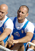 Poznan, POLAND,ITA M4-, , Alessio SARTORI, , at the start of their Repechage at the 2008 FISA World Cup. Rowing Regatta. Malta Rowing Course on Saturday, 21/06/2008. [Mandatory Credit:  Peter SPURRIER / Intersport Images] Rowing Course:Malta Rowing Course, Poznan, POLAND