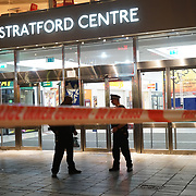 London, England, UK. 23rd September 2017. Stratford Shopping Centre Acid attack six injury around 8pm at Stratford.
