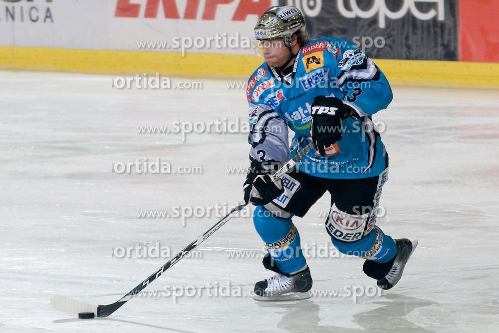 Markus Schlacher (EHC Liwest Black Wings Linz, #63) during ice-hockey match between HDD Tilia Olimpija and EHC Liwest Black Wings Linz in 18th Round of EBEL league, on November 5, 2010 at Hala Tivoli, Ljubljana, Slovenia. (Photo By Matic Klansek Velej / Sportida)