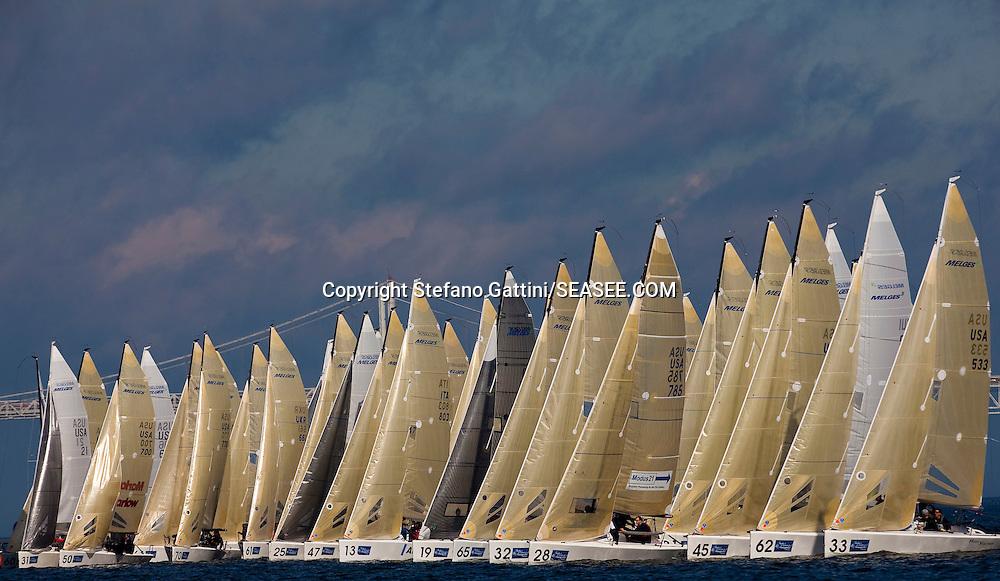 Annapolis, 27/10/09<br /> <br /> Melges 24 World Championship 2009<br /> <br /> Race Start.