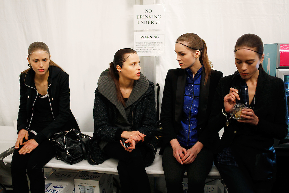 NEW YORK - FEBRUARY 16:  Atmosphere backstage at the Max Azria Fall 2010 during Mercedes-Benz Fashion Week at Bryant Park on February 16, 2010 in New York City.  (Photo by Joe Kohen/WireImage)