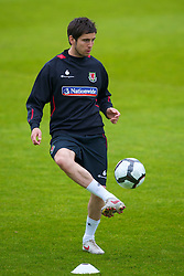 CARDIFF, WALES - Wednesday, May 19, 2010: Wales' Brian Stock during a training session at the Vale of Glamorgan Hotel ahead of the International Friendly match against Croatia. (Pic by David Rawcliffe/Propaganda)