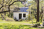 Original slave quarters at Magnolia Plantation April 10, 2014 in Charleston, SC.