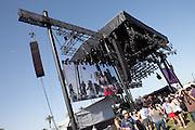 Main Coachella stage at the 2010 Coachella Music Festival in Indio, CA on Friday, Apri 16, 2010.