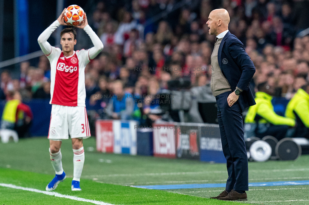 08-05-2019 NED: Semi Final Champions League AFC Ajax - Tottenham Hotspur, Amsterdam<br /> After a dramatic ending, Ajax has not been able to reach the final of the Champions League. In the final second Tottenham Hotspur scored 3-2 / Coach Erik ten Haf of Ajax, Nicolas Tagliafico #31 of Ajax