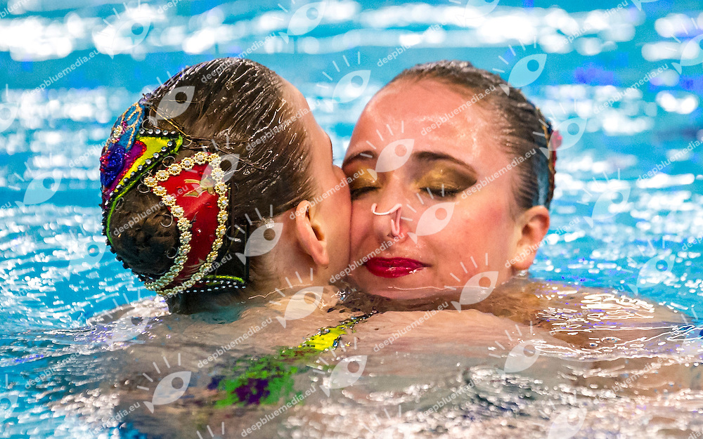 Preliminary Duet Technical<br /> SUI SWITZERLAND<br /> GIGER Sophie<br /> KRAUS Sascia<br /> European Champions Cup Synchronised Swimming Haarlemmermeer 2015<br /> Haarlemmermeer, Netherlands 2015  May 8 th - 10 th<br /> Day02 - May 9th<br /> Photo P. F. Mesiano/Deepbluemedia/Inside