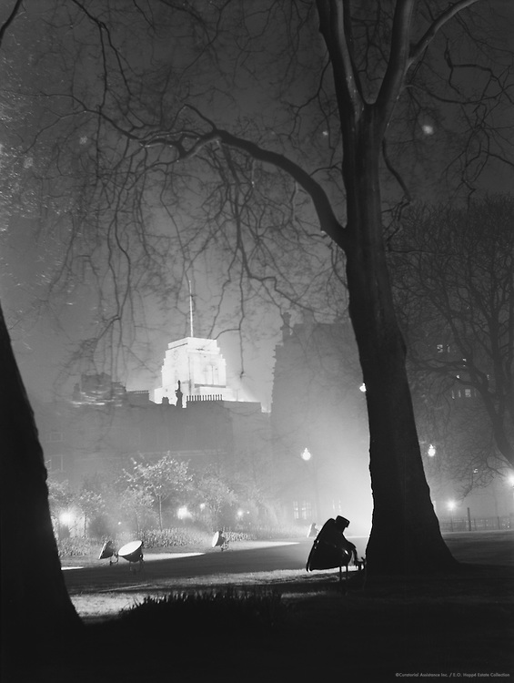 St. James' Park by night, London, 1934