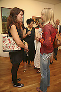 KEZZIE MOYNIHAN, JUNG CHANG AND PENELOPE TREE, Celebrating George Melly at 80: Aspects of his Collection. The Mayor Gallery. Cork St. London. 17 August 2006. ONE TIME USE ONLY - DO NOT ARCHIVE  © Copyright Photograph by Dafydd Jones 66 Stockwell Park Rd. London SW9 0DA Tel 020 7733 0108 www.dafjones.com