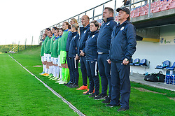 Bench of Slovenia during women football match between National teams of Slovenia and Iceland in 2019 FIFA Women's World Cup qualification, on April 06, 2018 in Sportni park Lendava, Lendava, Slovenia. Photo by Mario Horvat / Sportida