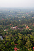 Aerial view of rice Wat Bakong, south of Siem Reap, Cambodia.