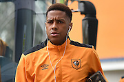 Hull City striker Abel Hernandez (9) arriving at the KCOM stadium before the Premier League match between Hull City and Burnley at the KCOM Stadium, Kingston upon Hull, England on 25 February 2017. Photo by Ian Lyall.