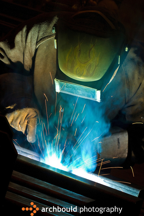 A welder working on equipment.<br /> <br /> NOT IN YOUR BUDGET? Contact Cathie for a price specific to your project.