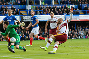 Nicky Law (7) of Bradford City shoots at goal and misses during the EFL Sky Bet League 1 match between Portsmouth and Bradford City at Fratton Park, Portsmouth, England on 28 October 2017. Photo by Graham Hunt.