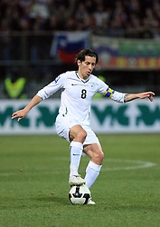 Robert Koren of Slovenia at the 8th day qualification game of 2010 FIFA WORLD CUP SOUTH AFRICA in Group 3 between Slovenia and Czech Republic at Stadion Ljudski vrt, on March 28, 2008, in Maribor, Slovenia. Slovenia vs Czech Republic 0 : 0. (Photo by Vid Ponikvar / Sportida)