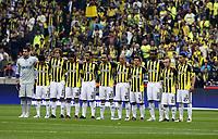 BILDET INNGÅR IKKE I NOEN FASTAVTALER MEN MÅ KJØPES SEPARAT<br /> <br /> Fotball<br /> Foto: imago/Digitalsport<br /> NORWAY ONLY<br /> <br /> 01.05.2011  <br /> Lagbilde Fenerbahce Istanbul, v.li.:, Volkan Demirel, Gökhan Gönül, Diego Lugano, Mehmet Topuz, Cristian Baroni, Semih Sentürk, Alex, Emre Belözoglu, Joseph Yobo, Miroslav Stoch und Andre Santos
