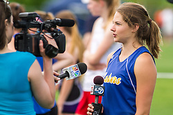 Maine State Track & Field Meet, Class B: Kate Hall, Lake Region, TV interview