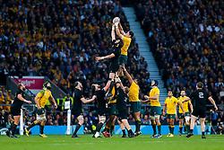 Australia Lock Rob Simmons wins a lineout - Mandatory byline: Rogan Thomson/JMP - 07966 386802 - 31/10/2015 - RUGBY UNION - Twickenham Stadium - London, England - New Zealand v Australia - Rugby World Cup 2015 FINAL.