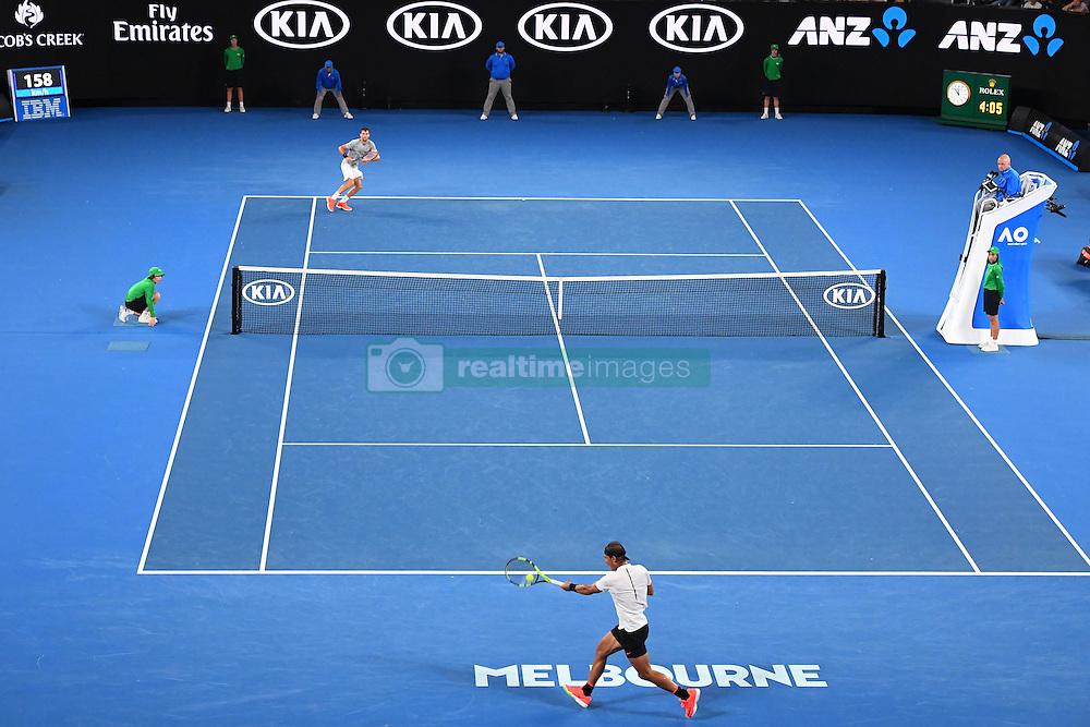 January 27, 2017 - Melbourne, AUSTRALIA - Rafael Nadal (ESP) def Grigor Dimitrov  (Credit Image: © Panoramic via ZUMA Press)