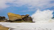 Large waves at Tayrona National Park Colombia