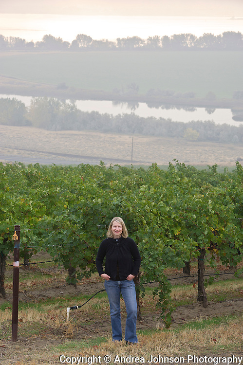 K.D. Organ, assistant winemaker, Ste. Michelle's Canoe Ridge Vineyard, Horse Heaven Hills, Washington