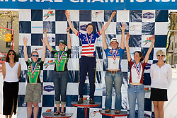 Women's division 2 omnium winners Kendi Thomas (Whitman College), Devon Haskell (University of Chicago), Jen Stebbins (Dartmouth College), Martha Buckley (Massachusetts Institute of Technology), and Eve McNeill (Dartmouth College).  Podium awards were given out after The 2008 USA Cycling Collegiate National Championships Criterium event held in Fort Collins, CO on May 11, 2008.
