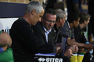 Picture by Paul Chesterton/Focus Images Ltd.  07904 640267.28/7/11 .Norwich City Manager Paul Lambert and Ian Culverhouse during a pre season friendly at Roots Hall Stadium, Southend...