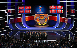 File photo dated 01-12-2017 of England manager Gareth Southgate (back row, fourth from left) stands with fellow managers during the FIFA 2018 World Cup draw at The Kremlin, Moscow. PRESS ASSOCIATION Photo Picture date: Friday December 1, 2017. England expects - even though it should know better. With the other home nations failing to qualify for the 2018 World Cup, all eyes will be on England in Russia. A draw pitting Gareth Southgate's side with Belgium, Panama and Tunisia in Group G made reaching the knockout stages a highly achievable goal, but the exit from Euro 2016 at the hands of Iceland remains fresh in the memory. See PA story SOCCER World Cup. Photo credit should read: Nick Potts/PA Wire. RESTICTIONS: Editorial use only. No transmission of sound or moving images. No use with any unofficial third party logos. No altering or adjusting of photographs.