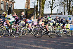 Karlijn Swinkels with 2 laps to go at Drentse 8 2017. A 143 km road race on March 12th 2017, starting and finishing in Dwingeloo, Netherlands. (Photo by Sean Robinson/Velofocus)