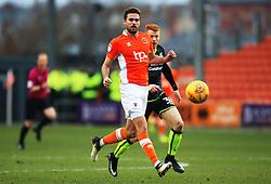Clark Robertson of Blackpool and Rory Gaffney of Bristol Rovers - Mandatory by-line: Matt McNulty/JMP - 13/01/2018 - FOOTBALL - Bloomfield Road - Blackpool, England - Blackpool v Bristol Rovers - Sky Bet League One