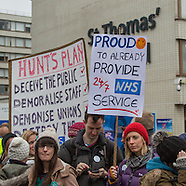 10 Mar 2016 - Day two of the 48 hour strike by Junior Doctors.