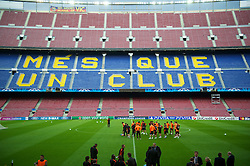 23.04.2012, Stadion Camp Nou, Barcelona, ESP, UEFA CL, Halblfinal-Rueckspiel, FC Barcelona (ESP) vs FC Chelsea (ENG), im Bild Chelsea's players ahead the UEFA Championsleague Halffinal 2st Leg Match, between FC Barcelona (ESP) and FC Chelsea (ENG), at the Camp Nou Stadium, Barcelona, Spain on 2012/04/23. EXPA Pictures © 2012, PhotoCredit: EXPA/ Propagandaphoto/ David Rawcliff..***** ATTENTION - OUT OF ENG, GBR, UK *****