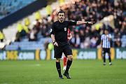 Referee Tony Harrington awards a penalty to Sheffield Wednesday during the EFL Sky Bet Championship match between Sheffield Wednesday and Bristol City at Hillsborough, Sheffield, England on 22 December 2019.