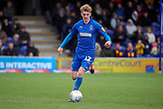 AFC Wimbledon Jack Rudoni (12) dribbling during the EFL Sky Bet League 1 match between AFC Wimbledon and Blackpool at the Cherry Red Records Stadium, Kingston, England on 22 February 2020.