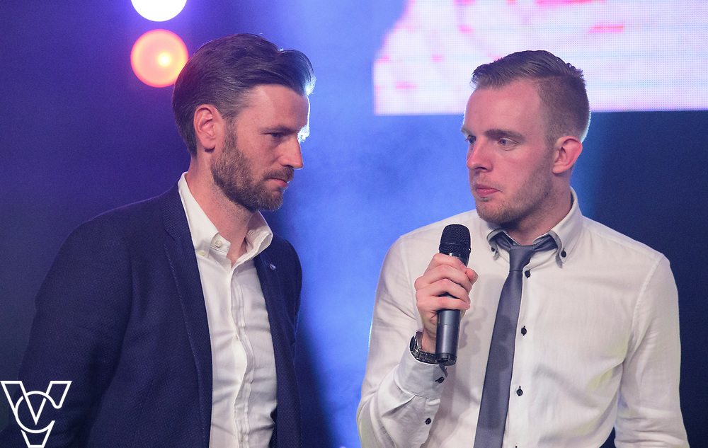 Rob Makepeace interviews Nicky Cowley<br /> <br /> Lincoln City Football Club's 2016/17 End of Season Awards night - Champions Seasons Awards Dinner - held at the Lincolnshire Showground.<br /> <br /> Picture: Andrew Vaughan for Lincoln City Football Club<br /> Date: May 20, 2017 Champions Seasons Awards Dinner: