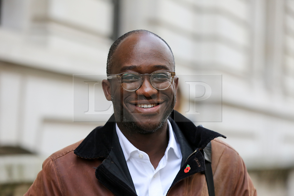 © Licensed to London News Pictures. 05/11/2019. London, UK. Liberal Democrat MP for East Surrey SAM GYIMAH arrives for thelaunch of Liberal Democrat general election campaign in Westminster.A general election will be held on 12 December 2019.Photo credit: Dinendra Haria/LNP
