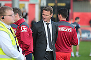 Stevenage FC manager Teddy Sheringham during the Sky Bet League 2 match between Stevenage and Oxford United at the Lamex Stadium, Stevenage, England on 31 October 2015. Photo by Jemma Phillips.