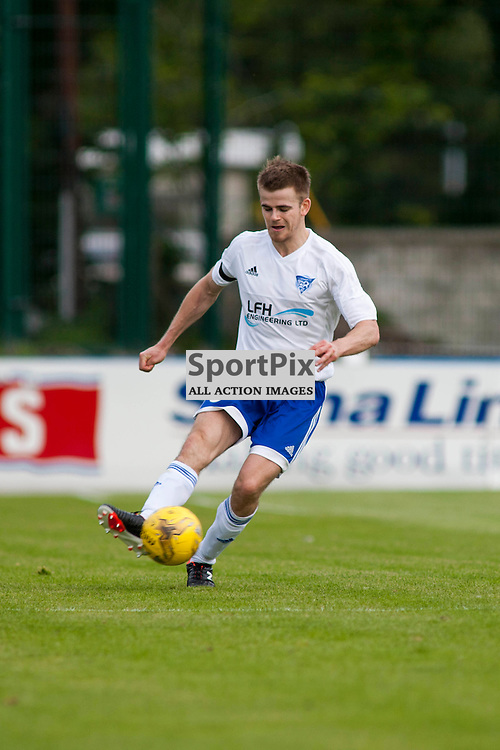 Jamie Redman (Peterhead 8) Stranraer v Peterhead Ladbrokes SPFL Scottish Division 1 at Stair Park in Stranraer 15 August 2015<br />
