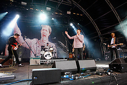Pictured: The Begbies open the main stage on day 2 of Party at the palace in Linlithgow. Andrew West/ EEm
