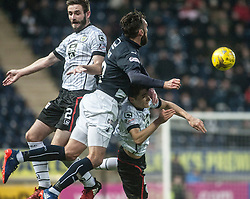 St Mirren's Jason Naismith and Falkirk's Lee Miller. Falkirk 3 v 1 St Mirren, Scottish Championship game played 3/12/2016 at The Falkirk Stadium.