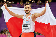 Great Britain, London - 2017 August 08: Adam Kszczot (RKS Lodz) of Poland competes in men's 800 meters final during IAAF World Championships London 2017 Day 5 at London Stadium on August 08, 2017 in London, Great Britain.<br /> <br /> Mandatory credit:<br /> Photo by © Adam Nurkiewicz<br /> <br /> Adam Nurkiewicz declares that he has no rights to the image of people at the photographs of his authorship.<br /> <br /> Picture also available in RAW (NEF) or TIFF format on special request.<br /> <br /> Any editorial, commercial or promotional use requires written permission from the author of image.