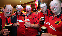 Munster fans stuck in Toulouse reflect upon hearing the news that Saturday's Heineken Cup pool match between Montauban and Munster has been postponed until Sunday at 1300 GMT on safety grounds because of high winds.