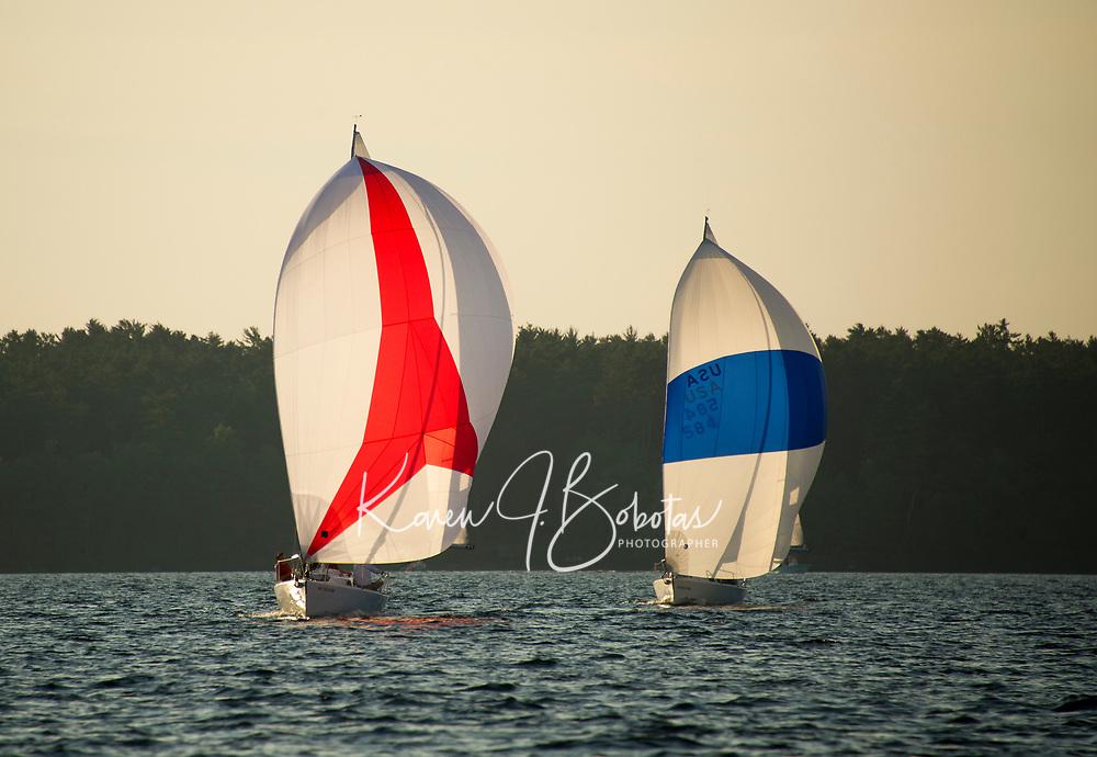 LWSA J80 Thursday night racing series on Lake Winnipesaukee.  ©2018 Karen Bobotas Photographer