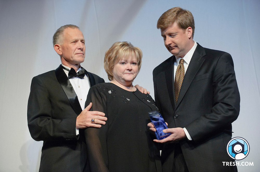 Judy Shepard and Dennis Shepard receive HRC's first-ever Edward M. Kennedy National Leadership Award at the 13th Annual HRC National Dinner, Saturday, October 10, 2009, in Washington, DC.