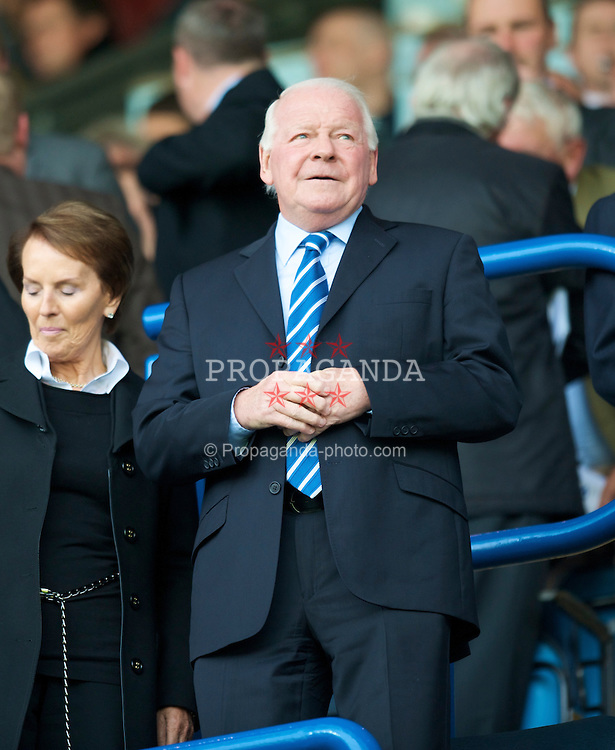 BLACKBURN, ENGLAND - Sunday, April 26, 2009: Wigan Athletic's owner and Chairman Dave Whelan during the Premiership match against Blackburn Rovers at Ewood Park. (Photo by David Rawcliffe/Propaganda)
