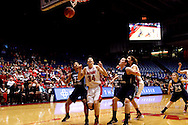 UD senior Justine Raterman (34) as the Rhode Island Rams play the University of Dayton Flyers at UD Arena in Dayton, Saturday, January 7, 2012.